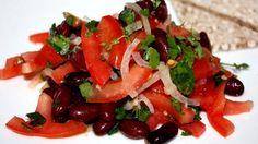 Вегетарианский салат с красной фасолью