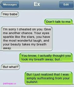 Funny Text By Ex<--not that funny but whatever...