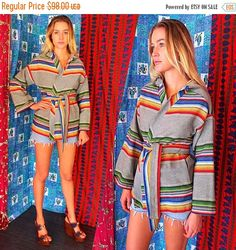 SHANNONMYINDI10 Vintage 70s Mexican Blanket Woven by ShannonMyIndi