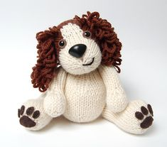 Daniel the Spaniel knitting pattern a good friend made me one in blues!