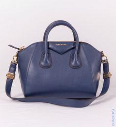 Сумка Givenchy Antigona кожаная синяя