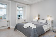 bedroom - open plan living area of the apartment at Gothenburg,Sweden