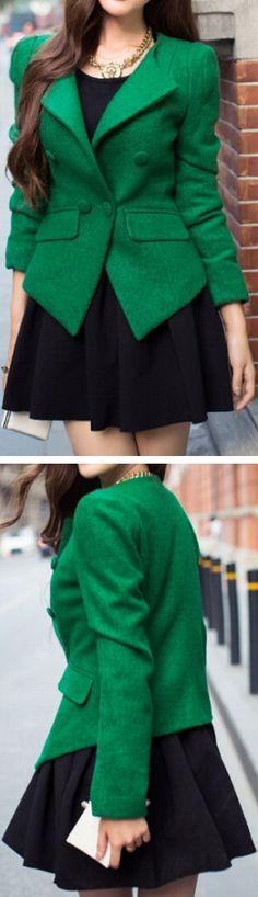 Emerald Green Blazer & Black //