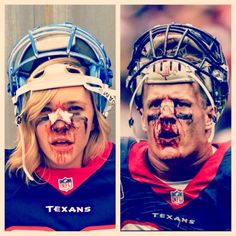 Female Fan's Bloody J.J. Watt Costume is Going to Win a Contest Somewhere! [PHOTO] | FatManWriting