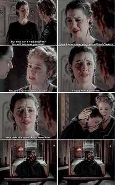 mary and catherine. Adalaide Kane deserves an award for her acting on Reign. She has ripped my heart out more times than any other.