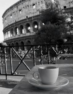 Coffee in such a beautiful place