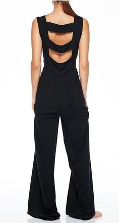 Cheap elegant playsuit, Buy Quality jumpsuit sexy directly from China high waist jumpsuit Suppliers: Backless Women High Waist Jumpsuits Sexy Slim Wide loose Sleeveless Crew Neck Streetwear Rompers Causal Elegant Playsuits Jumpsuit Outfit, Look Chic, Mode Style, Playsuits, Jumpsuits For Women, Ideias Fashion, Street Wear, Autumn Fashion, Rompers
