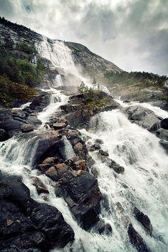 Langfossen, Akrafjorden   Norway (by Jonas Lang)