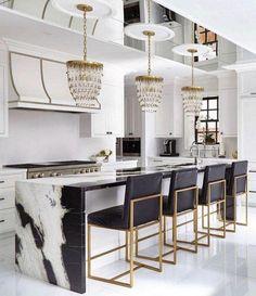 48 Adorable White Kitchen Design Ideas In 2019 … - Luxury Kitchen Remodel Home Decor Kitchen, Rustic Kitchen, Kitchen Furniture, New Kitchen, Kitchen Ideas, Kitchen Inspiration, Kitchen Industrial, Wood Furniture, Furniture Stores