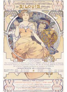 1904 Worlds Fair St Louis by Mucha