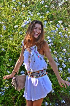 Boho Withe Ibiza Dress