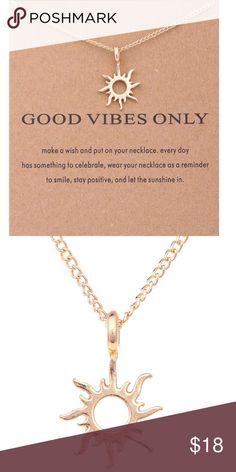 Good Vibes Only Pendant necklace! One of my new additions to my Jewels Collection! Unique item and makes a great gift! Can request a Jewelry Blue Satan styled gift bag with any of my jewels for an additional $2! Hope you all enjoy this new addition! Happy Poshing! Trend Setter Diva Jewels Jewelry Necklaces