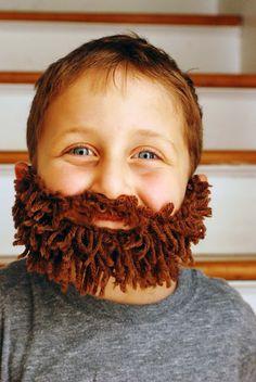 DIY yarn beard. I need to make a white one for Santa costume.