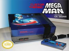 I will give you all my money for it.  Custom airbrushed painted mega man nes by CKSIGNS.deviantart.com on @DeviantArt