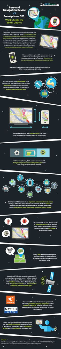 Personal #NavigationDevices vs #Smartphone #GPS #infographic