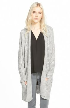 Free shipping and returns on Chelsea28 Textured Cardigan at Nordstrom.com. Intricate tuck-stitch construction lends warmth and dimension to a cotton-blend cardigan styled with draping shawl lapels.<br /><br />