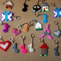 Porte-clés en perles Hama à repasser | Sakarton