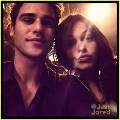 Aimee Teegarden and grey damon