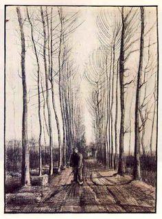 「ポプラの小道」 1884   54 x 39 cm  ファン・ゴッホ美術館(アムステルダム)