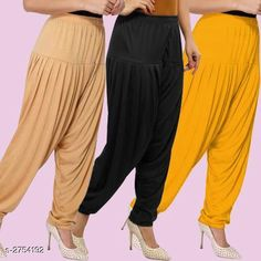 Ethnic Bottomwear - Patiala Pants Fabulous Viscose Women's Patiala Pants Combo Fabric: Viscose Waist Size : XL - Up To 24 in To Up To 32 in XXL - Up To 26 in To Up To 34 in Length: Up To 40 in Type: Stitched Description: It Has 3 Pieces Of Women's Patiala Pants Pattern: Solid Country of Origin: India Sizes Available: XL, XXL   Catalog Rating: ★4.1 (838)  Catalog Name: Kamal Fabulous Viscose Women's Patiala Pants Combo Vol 1 CatalogID_373404 C74-SC1018 Code: 974-2754192-4221
