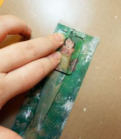 "❥ Tape Transfer Jewelry~ ""This is how I transfer my designs to my domino pendants."""