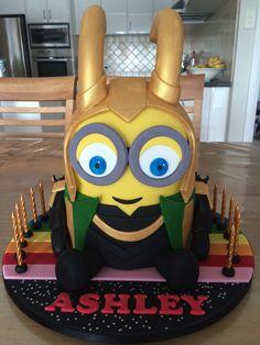 Loki minion cake