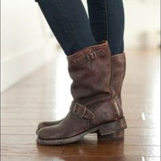 Frye Veronica Short Bootie Worn once. perfect condition.  Want to find them a new home. Frye Shoes Combat & Moto Boots