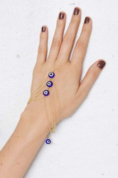 Evil Eye Hand Chain