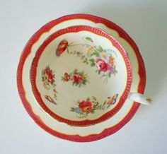 Vintage Tea Cup and Saucer Set - Aynsley Teacup and Saucer - Victorian Teacup and Saucer Set. $28.00, via Etsy.