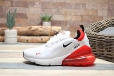 Nike Air Max 270 White University Red BV2523 100