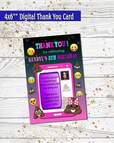 Party Pooper Thank You Card / Thank you card / Birthday thank