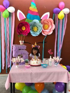 Fotos En Cumpleaños Diy Unicorn Birthday Party, Birthday Party Themes, Gateau Baby Shower, Simple Birthday Decorations, Festa Party, Barbie, Halloween, Backdrop Decor, Bedroom Decor