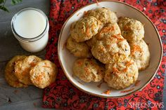 All natural vegan chewy carrot coconut cookie recipe