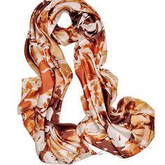 2014 Fashion Spring New Arrival Womens Pattern Scarves Ladies Autumn Scarf Coffee Batik