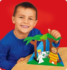Triorama Drama Craft from Lakeshore Learning: Children bring scenes from their favorite stories to life—in 3-D! A great craft for any book!