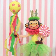 Party Monkey Cake by marileejanedesigns on Etsy, $30.00