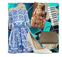 """""""Untitled #3369"""" by heyitskelsea ❤ liked on Polyvore featuring Dolce&Gabbana, Gianvito Rossi and ZAC Zac Posen"""