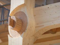 wooden church switzerland - Shigeru Ban - Timber slots together 7