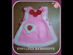 Вязаный сарафан для девочки.Часть 1. Knitted dress for girl - YouTube