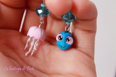 Finding Dory polymer clay Fimo earrings Disney Pixar