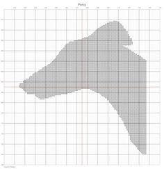 Percy - Greyhound PDF Cross Stitch Pattern
