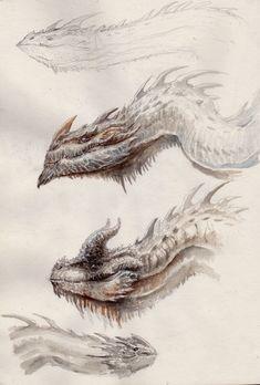 -- Share via Artstation iOS App, Artstation © 2016 Monster Concept Art, Fantasy Monster, Monster Art, Mythical Creatures Art, Fantasy Creatures, Creature Concept Art, Creature Design, Animal Sketches, Art Sketches