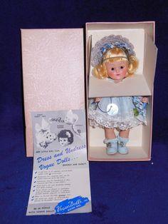 "Vintage Vogue Ginny Doll ""Cathy"" 1952 Debutante Series MIB Transitional Eyes…"