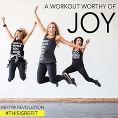Does your workout bring you JOY? We know many people ENJOY working out...but what about pure, unadulterated, heavenly JOY? •••••••••• It might seems strange to talk about your workout with that description, but it's not an unrealistic goal. Do you know