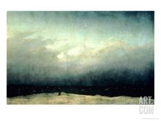 Monk by Sea, 1809 Giclee Print by Caspar David Friedrich at Art.com