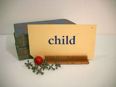 Vintage Flash Cards Words and Pictures CHILD by wallstantiques, $3.00