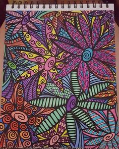 Beautiful Submission From Ashlee LaRoche Design Is ColorIt Colorful Flowers Volume 1 Adultcoloringbook Adultcoloringpages Coloringpagesforadults
