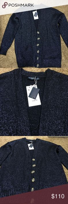 NWT ZARA SWEATER, size S NWT ZARA SWEATER (JACKET ) SIZE S  Beautiful , shine with batten Zara Jackets & Coats Blazers