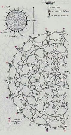 New crochet mandala pattern charts Ideas Motif Mandala Crochet, Crochet Circles, Crochet Doily Patterns, Crochet Diagram, Crochet Round, Crochet Chart, Crochet Squares, Thread Crochet, Love Crochet