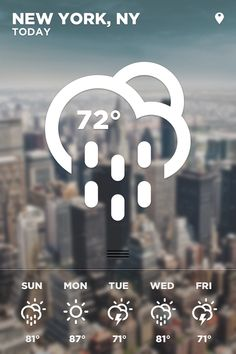iOS Weather App on the Behance Network -  I'd like this as like, postcard size, for an important place I'd been, like Paris this August or Belfast in January when we got engaged.
